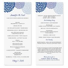 sle wedding programs wedding program template chrysanthemum blue tea length
