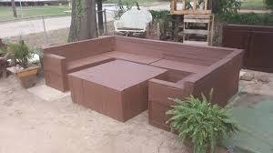Patio Sectional Sofa Diy Pallet Garden Or Patio Sectional Sofa 99 Pallets