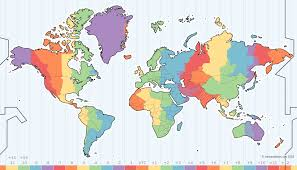 time zone layout zone map