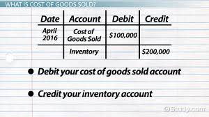 cost of goods sold journal entries video u0026 lesson transcript