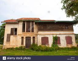 old french colonial house thakhek laos stock photo royalty free