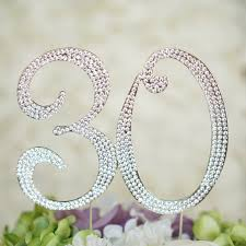 w cake topper number 30 birthday anniversary cake topper monogram