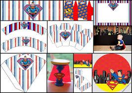 superman diys free printables party decoration ideas