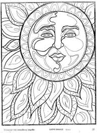 sun mandala coloring pages coloring in beatiful sun and moon