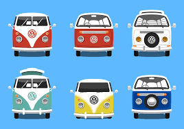 volkswagen hippie van vw bus free vector art 667 free downloads