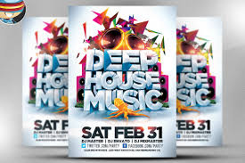 House Design Templates Free Deep House Music Flyer Template Flyer Templates Creative Market
