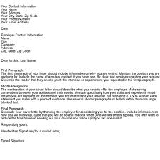 splendid cover letter sample format 13 letter examples template