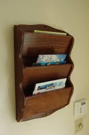 wall mail organizer magazine rack 23 h handcrafted