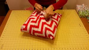 fabric wrapping no sew pillow sham youtube