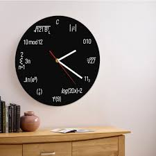 nerdy home decor buy math geek clock and get free shipping on aliexpress com