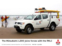mitsubishi truck indonesia mitsubishi l200 goes on beach patrol with rnli mitsubishi media