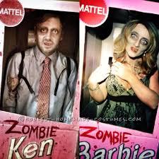 Zombie Barbie Halloween Costume Scariest Zombie Ken And Zombie Barbie Couple Costume