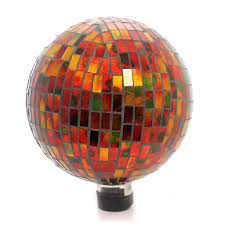 Gazing Globe Pedestal Home U0026 Garden Red Hues Mosaic Gazing Ball Gazing Ball Sbkgifts