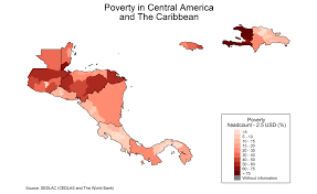 Central America And The Caribbean Map by Cedlas Statistics