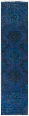 Overdyed Runner Rug New Turkish Kilim Runner Rug With Blue Tones This Charming Kilim