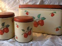 apple kitchen canisters 1940 s vintage tin kitchen match holder in and white dot w