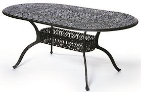 oval patio table grand tuscany by hanamint luxury cast aluminum patio furniture 42