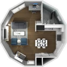 Yurt Floor Plan by Maritime Yurts