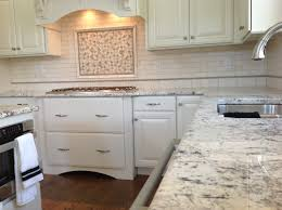 Types Of Kitchen Backsplash by Brilliant Kitchen Backsplash Over Stove Hood Above A Marble