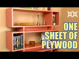 How To Build A Corner Bookcase Step By Step Make A Bookcase Using A Single Sheet Of Plywood Youtube