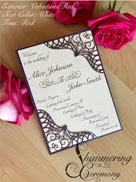 laser cut wedding programs moroccan wedding program laser cut pocket with printed insert boho