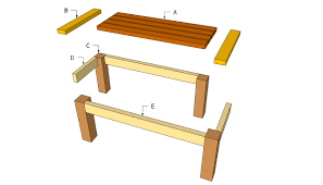 Simple Outdoor Bench Seat Plans by Wood Outdoor Furniture Plans Free