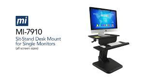 mount it mi 7910 standing desk mount for ergonomic workstations