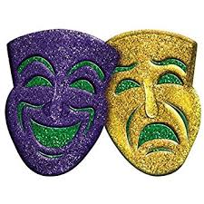 party mask amscan 3d glitter comedy tragedy mardi gras party