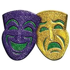 mardi gras wall masks amscan 3d glitter comedy tragedy mardi gras party