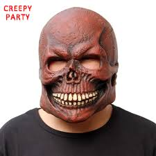 aliexpress com buy scary skull mask realistic latex mask