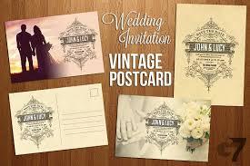 postcard wedding invitations wedding invitation vintage postcard invitation templates