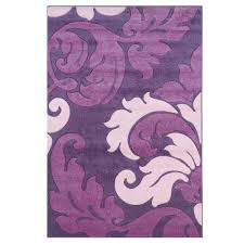 Purple Shag Area Rugs Linon Home Decor Corfu Collection Purple And Baby Pink 8 Ft X 10