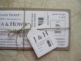 Wedding Invitations Packages Boarding Pass Wedding Invitation Package Vintage By Jennabdesigns