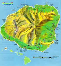 Hawaii Lava Flow Map Map Of Kauai Hawaii Kauai Island Hawaii Map Kauai Large Maps