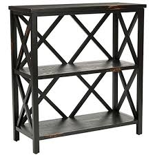 black two shelf bookcase safavieh american home collection shropshire distressed black two