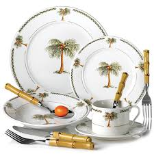 palm tree decor 20pc bahama palm tree dinnerware set tableware