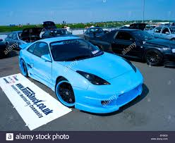 cars lamborghini blue toyota mr2 lamborghini blue modifed car auto ice stock photo