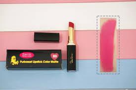 Lipstik Purbasari Nomor 90 makeup review purbasari lipstick color matte 81 83 86 88 89