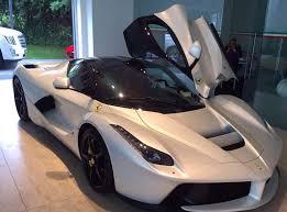 cars ferrari white laferrrari white bianco italia red interior cars