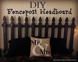 diy fencepost headboard