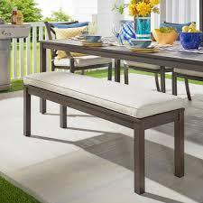 hampton bay isabella cornbread metal outdoor bench s548 30b the