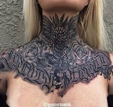 image gallery throat tattoos