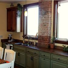 bathroom chic wooden kitchen bertch cabinets in green with