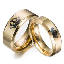 king gold rings images 2018 gold colour king and queen stainless steel crown couple rings jpg