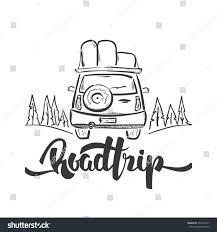vector illustration hand drawn travel car stock vector 534104017