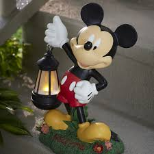 disney 17 mickey statue with solar lantern limited availability