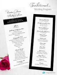 Wedding Program Sample Template Wedding Program Wording Magnetstreet Weddings