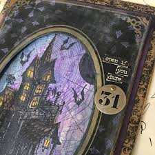 halloween background with purple richele christensen halloween releases from tim holtz
