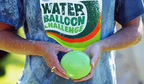 Challenge Water Balloon Bunch O Balloons Makes Filling Tying Balloons A Of Cake