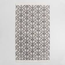 Rug Outdoor Black Graphic Woven Emerson Indoor Outdoor Area Rug World Market